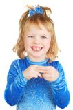 κορίτσι ευτυχές λίγα πο&lamb Στοκ Φωτογραφία