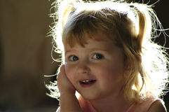 κορίτσι ευτυχές λίγα Στοκ Φωτογραφία