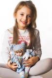 κορίτσι ευτυχές λίγος χρόνος Στοκ Φωτογραφία