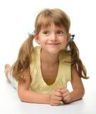 κορίτσι ευτυχές λίγο πο&rh στοκ εικόνα με δικαίωμα ελεύθερης χρήσης