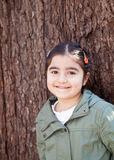 κορίτσι ευτυχές λίγο χαμόγελο Στοκ Φωτογραφίες