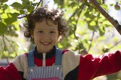 κορίτσι ευτυχές λίγο χαμόγελο Στοκ Εικόνα