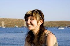 κορίτσι ευτυχές Στοκ Εικόνες