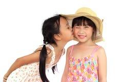 κορίτσι ευτυχή δύο Στοκ φωτογραφία με δικαίωμα ελεύθερης χρήσης