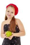 Κορίτσι εφήβων που κρατά τη Apple Στοκ Εικόνα