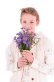 Κορίτσι εφήβων σε ένα άσπρο υπόβαθρο Στοκ εικόνες με δικαίωμα ελεύθερης χρήσης