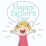 Κορίτσι ημέρας του ευτυχούς πατέρα Στοκ φωτογραφίες με δικαίωμα ελεύθερης χρήσης