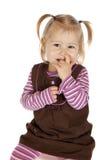 κορίτσι η επιλογή μύτης τη&sig Στοκ φωτογραφία με δικαίωμα ελεύθερης χρήσης