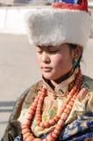 κορίτσι Θιβετιανός στοκ εικόνα με δικαίωμα ελεύθερης χρήσης