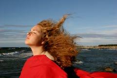 κορίτσι θυελλώδες Στοκ φωτογραφία με δικαίωμα ελεύθερης χρήσης