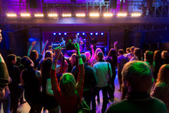 Κορίτσι διασκέδασης στη συναυλία στοκ φωτογραφία με δικαίωμα ελεύθερης χρήσης