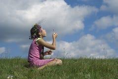 κορίτσι ΙΙ φυσαλίδων σαπ&o Στοκ εικόνες με δικαίωμα ελεύθερης χρήσης