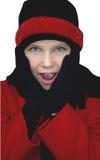 κορίτσι ιματισμού χειμερινό Στοκ Εικόνα