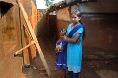 κορίτσι Ινδός Στοκ Φωτογραφία
