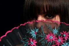 κορίτσι ισπανικά ανεμιστήρων Στοκ εικόνα με δικαίωμα ελεύθερης χρήσης