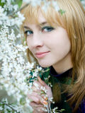 κορίτσι κήπων Στοκ Εικόνες