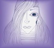 Κορίτσι και δάκρυ. Στοκ φωτογραφίες με δικαίωμα ελεύθερης χρήσης