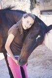 Κορίτσι και άλογο Στοκ Εικόνα