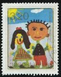Κορίτσι και ένα αγόρι Στοκ Φωτογραφία