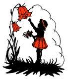 Κορίτσι και ένα bellflower Στοκ εικόνες με δικαίωμα ελεύθερης χρήσης