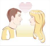 Κορίτσι και αγόρι   διανυσματική απεικόνιση