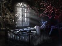 Κορίτσι και μάγος ύπνου Στοκ Φωτογραφίες