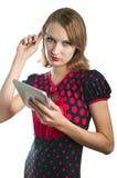 Κορίτσι και υπολογιστής Στοκ Εικόνες
