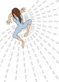 Κορίτσι και φόβος. Στοκ εικόνα με δικαίωμα ελεύθερης χρήσης