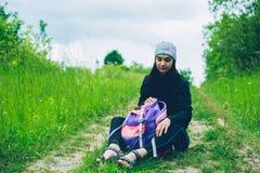 Κορίτσι και φύση Στοκ εικόνα με δικαίωμα ελεύθερης χρήσης