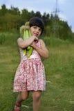 κορίτσι καλαμποκιού λίγ&al Στοκ Εικόνες