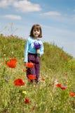 κορίτσι καλαμποκιού λίγ&et Στοκ Εικόνες