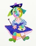 Κορίτσι - καλλιτέχνης Στοκ Εικόνες