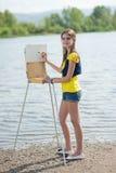 κορίτσι καλλιτεχνών Στοκ Εικόνες