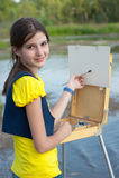 κορίτσι καλλιτεχνών Στοκ εικόνα με δικαίωμα ελεύθερης χρήσης