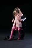 κορίτσι καρναβαλιού λίγ&alph στοκ φωτογραφίες