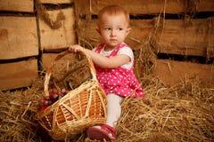 κορίτσι καρπού καλαθιών &lambda Στοκ εικόνα με δικαίωμα ελεύθερης χρήσης