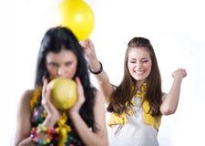 κορίτσι καρπού μπαλονιών σ Στοκ εικόνες με δικαίωμα ελεύθερης χρήσης