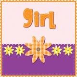 κορίτσι καρτών γενεθλίων διανυσματική απεικόνιση