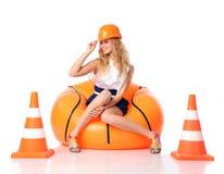 κορίτσι κατασκευής ευ&ta Στοκ εικόνα με δικαίωμα ελεύθερης χρήσης