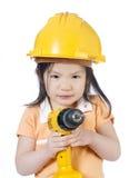 κορίτσι κατασκευής Στοκ Εικόνες