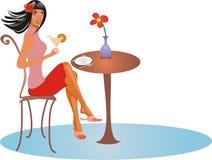 κορίτσι καφέδων Στοκ φωτογραφία με δικαίωμα ελεύθερης χρήσης