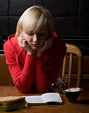 κορίτσι καφέδων Στοκ Φωτογραφίες