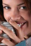 κορίτσι καφέ Στοκ εικόνα με δικαίωμα ελεύθερης χρήσης