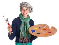 Κορίτσι καλλιτεχνών στην εργασία Στοκ Εικόνες