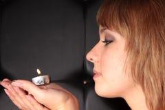 κορίτσι κεριών Στοκ Εικόνα
