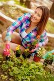 Κορίτσι κηπουρών Στοκ εικόνα με δικαίωμα ελεύθερης χρήσης