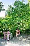 Κορίτσι κιμονό της Ιαπωνίας Στοκ Εικόνες