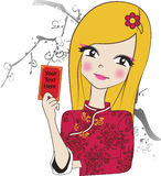 Κορίτσι κινέζικα της Νίκαιας  Στοκ Εικόνες