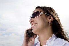 κορίτσι κινητών τηλεφώνων Στοκ Εικόνες