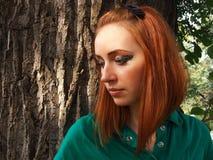 κορίτσι κοκκινομάλλες Στοκ φωτογραφία με δικαίωμα ελεύθερης χρήσης